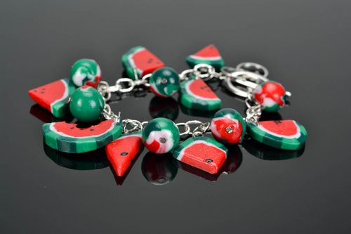 Polymer clay bracelet Water-melons - MADEheart.com