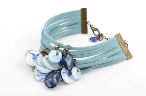 Beautiful handmade suede bracelet fashion accessories for girls gifts for her - MADEheart.com