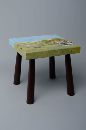 Small wooden stool - MADEheart.com
