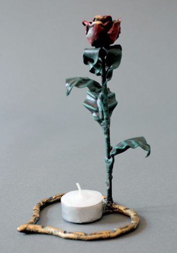 Metal forged candlestick - MADEheart.com