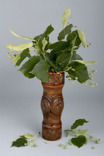 Decorative table wooden vase  - MADEheart.com