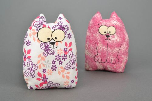 Handmade cushion toy Cat - MADEheart.com