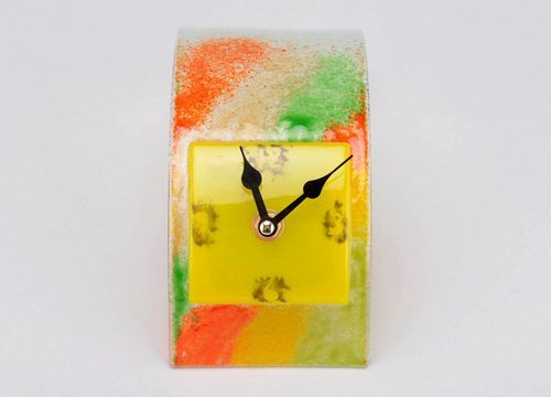 Glass desktop clock Wave - MADEheart.com
