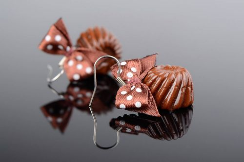 Earrings made of polymer clay Candies - MADEheart.com