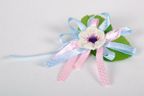 Brooch-Barrette in the Shape of Flower - MADEheart.com