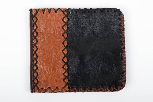 Handmade wallet designer wallet unusual gift leather purse present for man - MADEheart.com