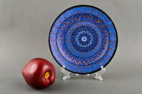 Ceramic pottery handmade plate beautiful clay pottery with unusual paintings - MADEheart.com