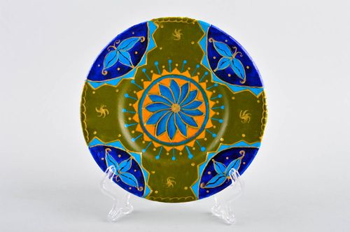 Decorative handmade plate table decoration souvenir plate painted plate - MADEheart.com