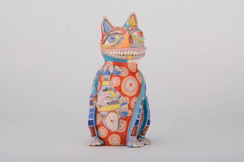 Moneybox Cat with a fish - MADEheart.com
