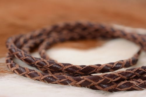 Handmade leather cord - MADEheart.com