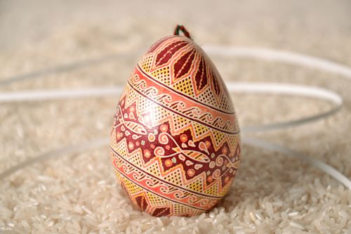 Decorative egg with patterns - MADEheart.com