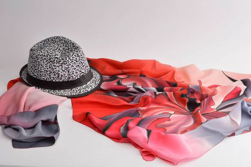Homemade silk scarf silk shawl bating scarf fashion accessories gifts for women - MADEheart.com