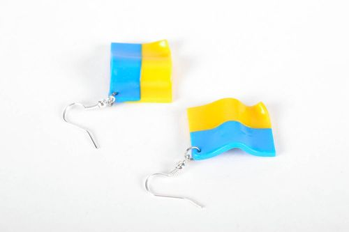 Earrings Ukrainian flag - MADEheart.com