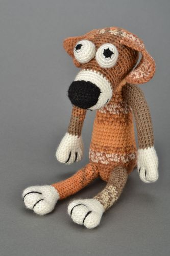 Soft crochet toy Dog Sirko - MADEheart.com