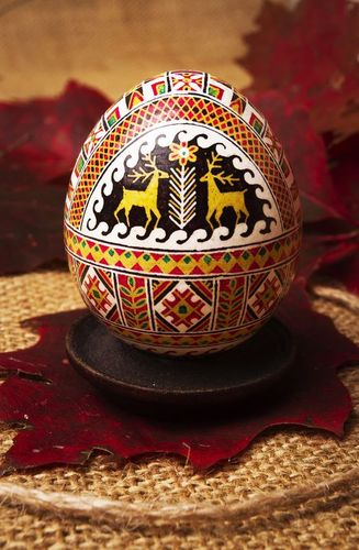 Easter egg with symbol of health - MADEheart.com
