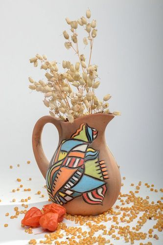 30 oz handmade ceramic classic style water pitcher 1,6 lb - MADEheart.com