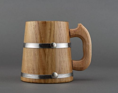 Big wooden mug for decorative use only - MADEheart.com