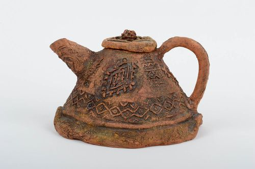 Handmade pottery ceramic tea pot tea party ideas kitchen decorations cool gifts - MADEheart.com