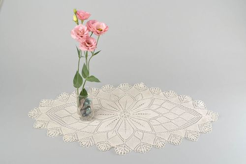 Handmade knitted napkin decorative lace napkin for coffee table interior ideas - MADEheart.com