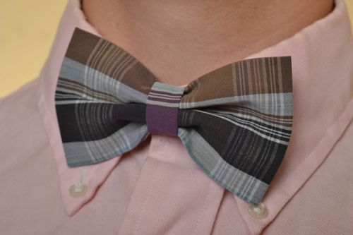 Beautiful handmade designer textile bow tie with 490 mm adjustable strap - MADEheart.com