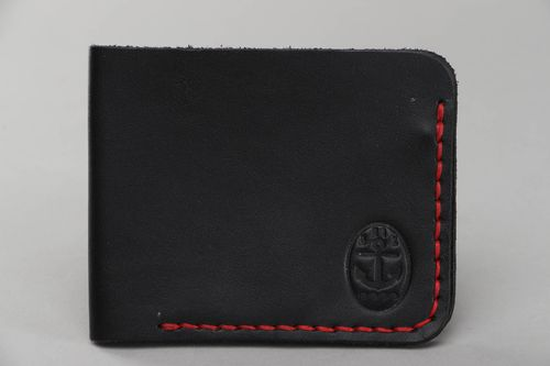 Black leather wallet - MADEheart.com