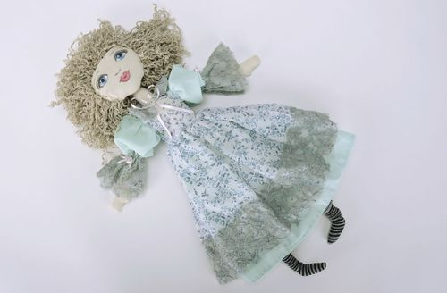 Soft doll made from natural fabrics - MADEheart.com