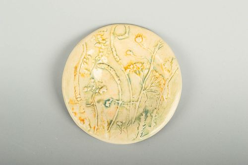 Clay plate glazed wall plate handmade pottery home decor decorative use only - MADEheart.com