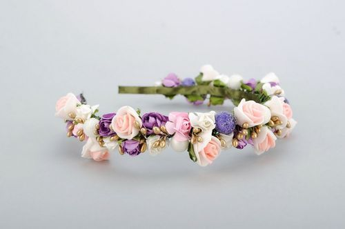 Headband with artificial roses - MADEheart.com