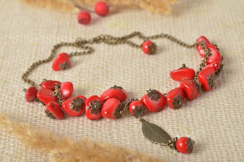 Beautiful handmade beaded necklace metal necklace fashion trends gifts for her - MADEheart.com
