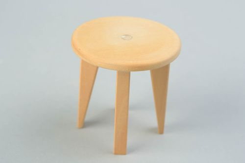 Handmade wooden blank for doll chair for painting DIY doll furniture - MADEheart.com