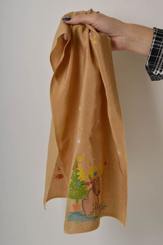 Cute handmade silk scarf Christmas scarf for women cool accessories for girls - MADEheart.com