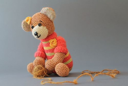 Soft toy Bear in sweater - MADEheart.com