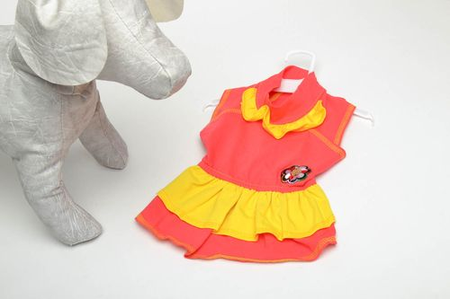 Red and yellow dog dress - MADEheart.com