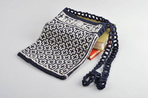 Hand-knitted bag handmade purse women purses stylish accessories small bag - MADEheart.com