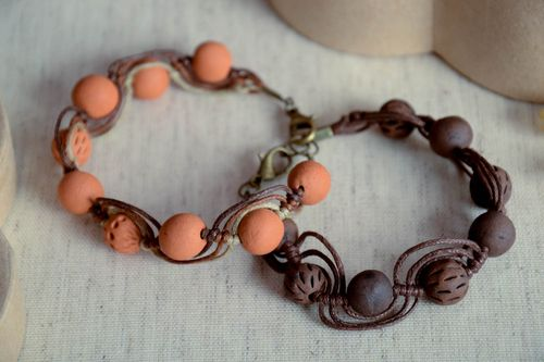 Ceramic bracelet handmade clay jewelry eco friendly accessories for women - MADEheart.com