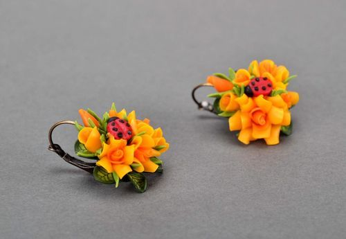 Earrings made ​​of polymer clay, handmade - MADEheart.com