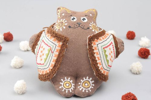 Textile toy filled with buckwheat - MADEheart.com