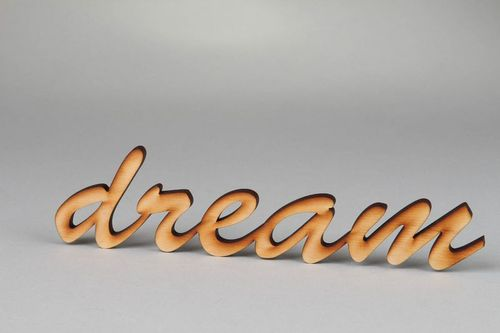 Chipboard word Dream - MADEheart.com
