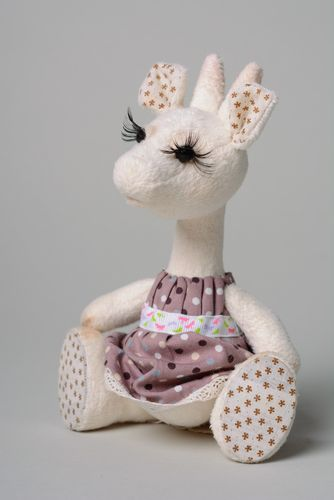 Handmade plush toy nanny-goat for children - MADEheart.com