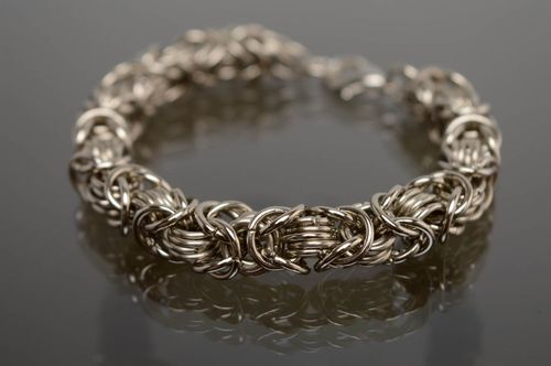 Chainmail metal bracelet - MADEheart.com