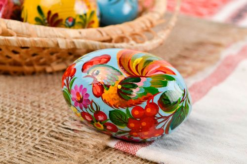 Unusual handmade wooden egg Easter egg the living room decorative use only - MADEheart.com