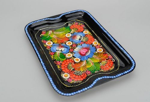 Painted tray made of food steel - MADEheart.com