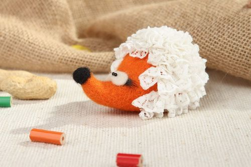 Soft toy made from wool Hedgehog, felting - MADEheart.com