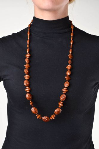 Handmade necklace wooden jewelry beaded necklace fashion accessories cool gifts - MADEheart.com
