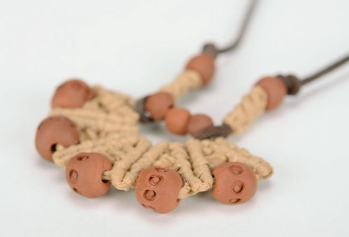 Beads with red clay - MADEheart.com