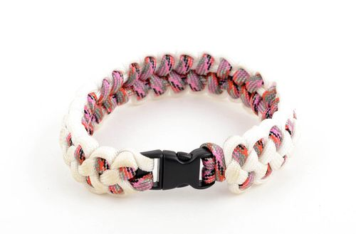 Parachute cord bracelet handmade survival bracelet travel accessories cool gifts - MADEheart.com