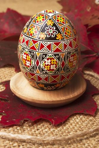Easter egg with painting - MADEheart.com