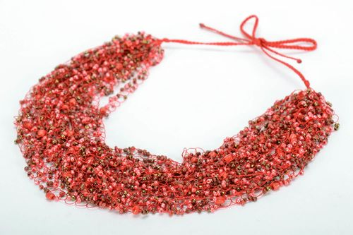 Aerial bead necklace - MADEheart.com