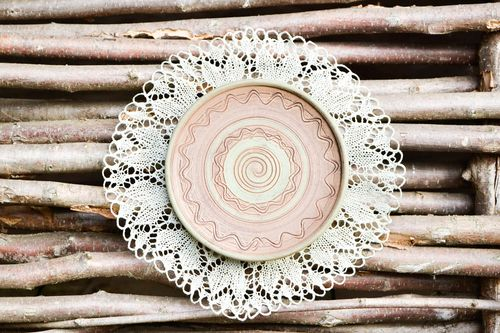 Handmade plate designer plate for kitchen decor clay plate unusual dish - MADEheart.com