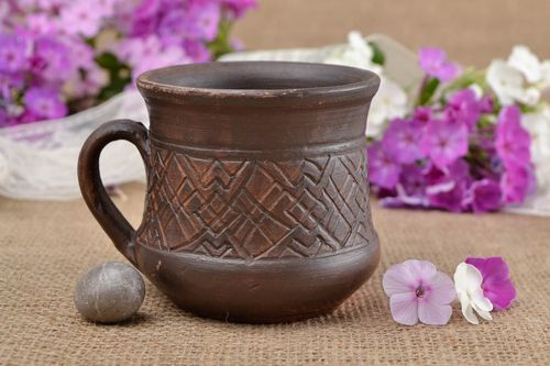 Unusual handmade ceramic coffee cup designer tea cup kitchen designs - MADEheart.com